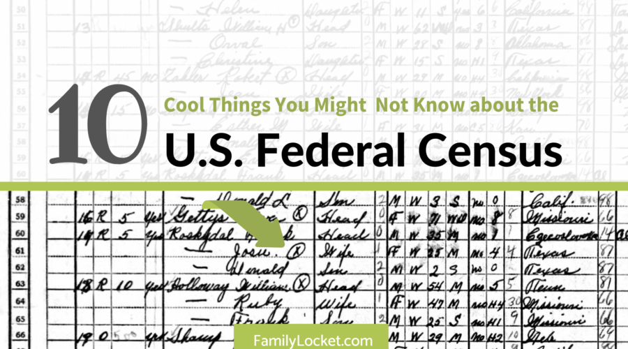 Ten Cool Things You Might Not Know About the U.S. Federal Census