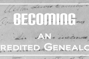 Goal for 2016 – Becoming an Accredited Genealogist