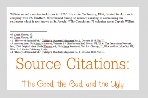 Source Citations:  The Good, the Bad, and the Ugly