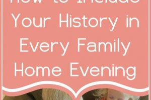 How to Include Family History in Every Family Home Evening