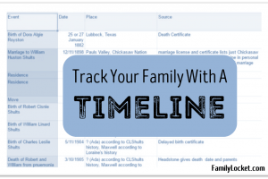 Track Your Family with a Timeline