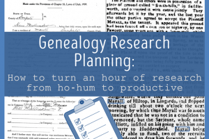 Becoming An Accredited Genealogist: Levels 2 & 3 Study Group – Session 2, Research Planning