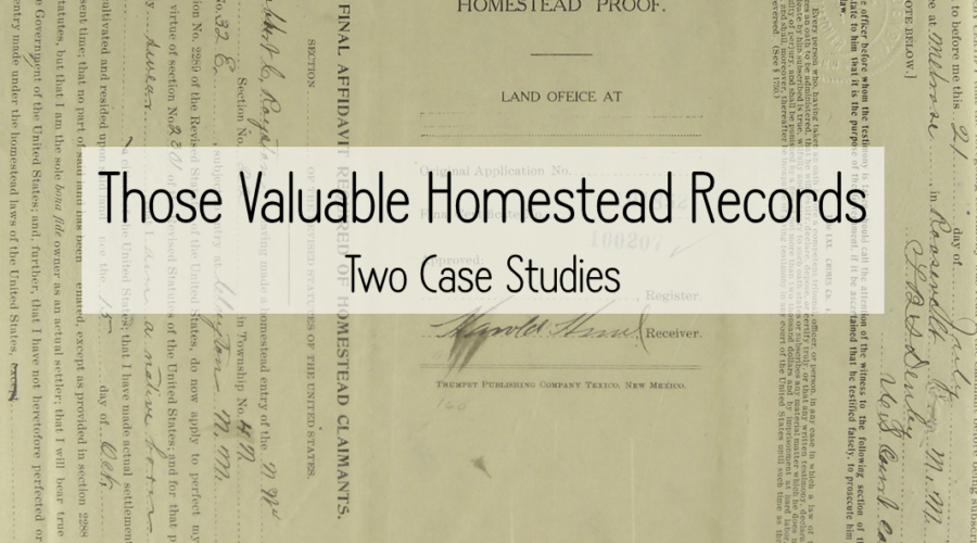 Back To School: Those Valuable Homestead Records