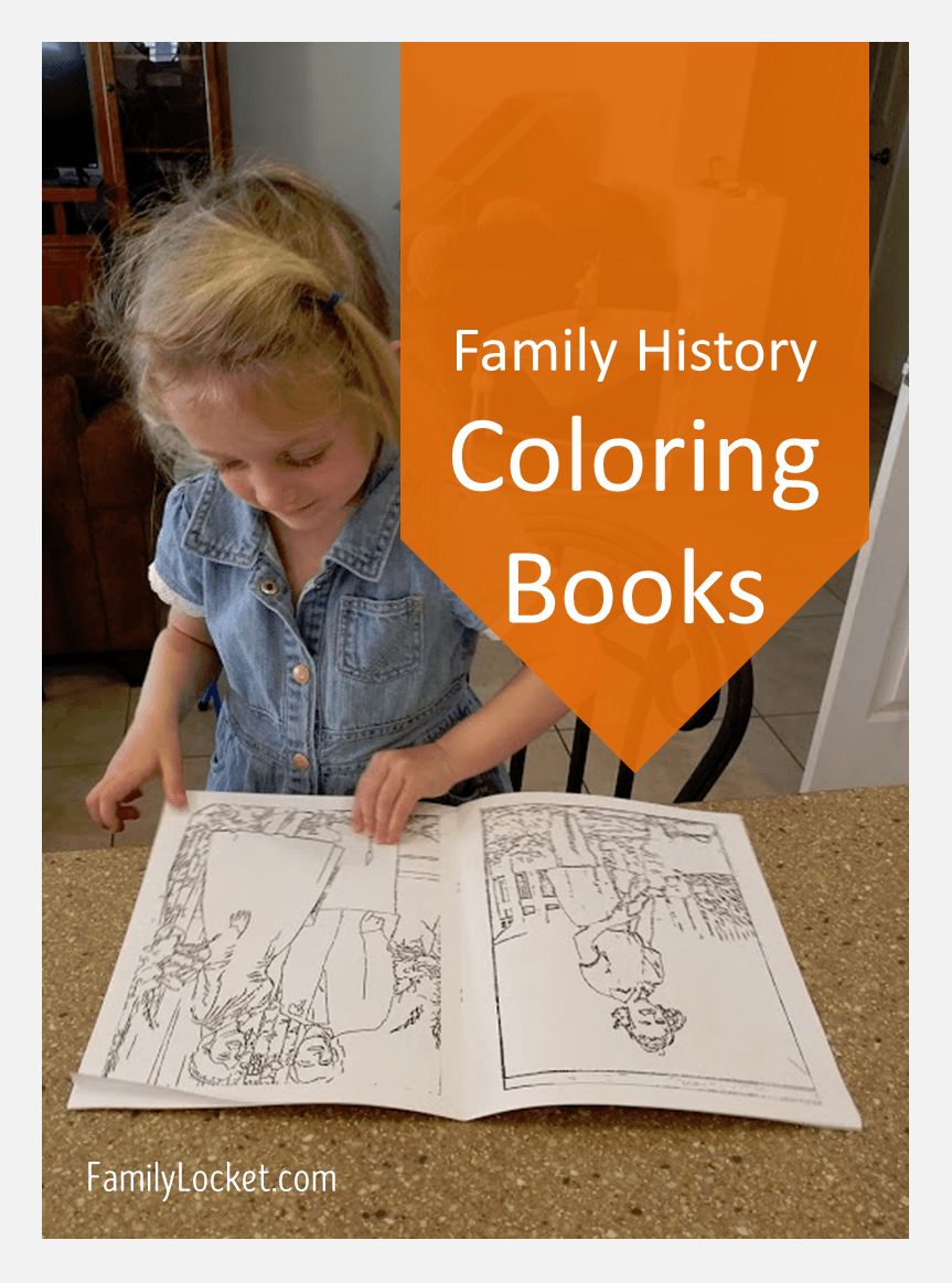 family history coloring books with reallycolor family locket