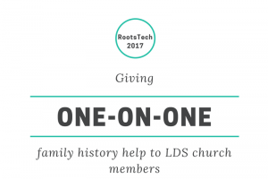 Giving one-on-one family history help to LDS church members #RootsTech2017