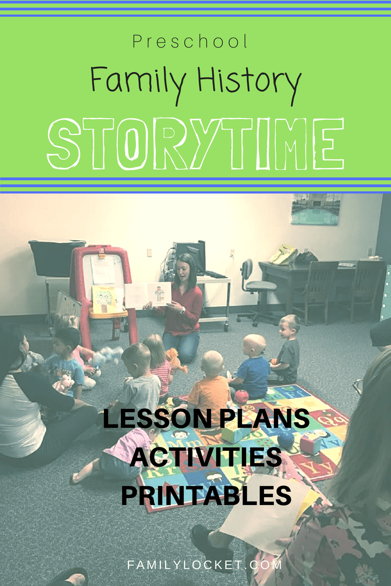 Family History Storytime – Preschool Books and Lesson Plans – Family ...