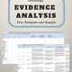 Genealogy Evidence Analysis – Free Template and Lucinda Keaton Sample