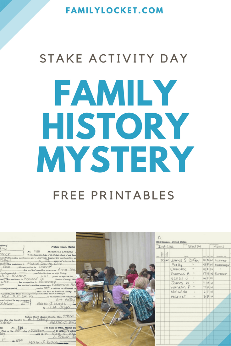 Doing a Family History Mystery at an LDS Stake Activity Day Event ...