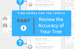 Find Names for the Temple Part 1: Review the Accuracy of Your Tree