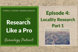 RLP 4: Locality Research Part 1