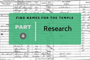 Find Names for the Temple Part 4: Research