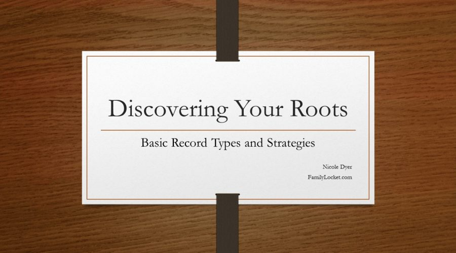 Discover Your Roots Junior High Lesson Presentation and Handout