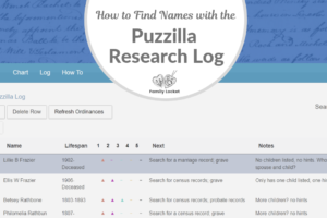 Find Names for the Temple with the Puzzilla Research Log