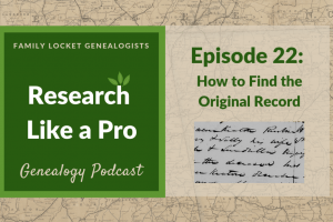 RLP 22: How to Find the Original Record