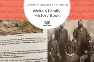 Writing a Family History Book Using the Research Like a Pro Process