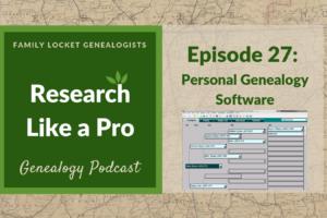 RLP 27: Personal Genealogy Software