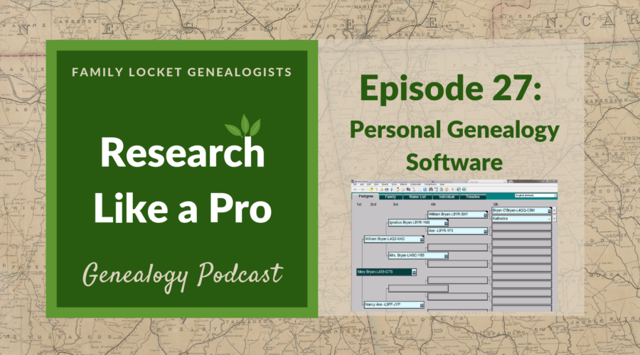RLP 27: Personal Genealogy Software
