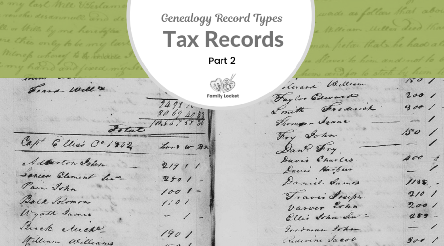 Back to the Basics with Tax Records: Part 2