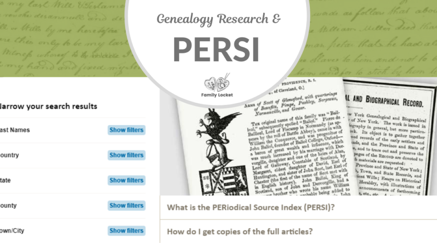 Genealogy Research and PERSI: A Perfect Match