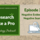 RLP 33: Negative Evidence vs. Negative Searches