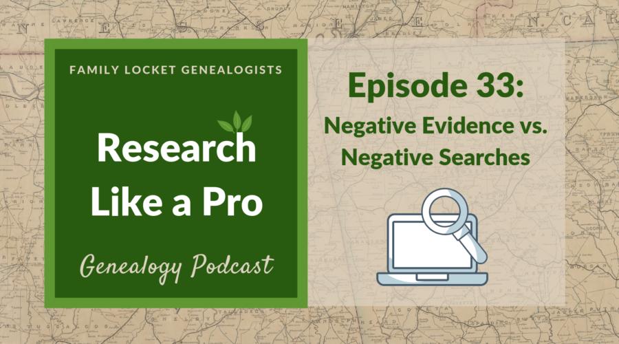 RLP 33: Negative Evidence vs. Negative Searches