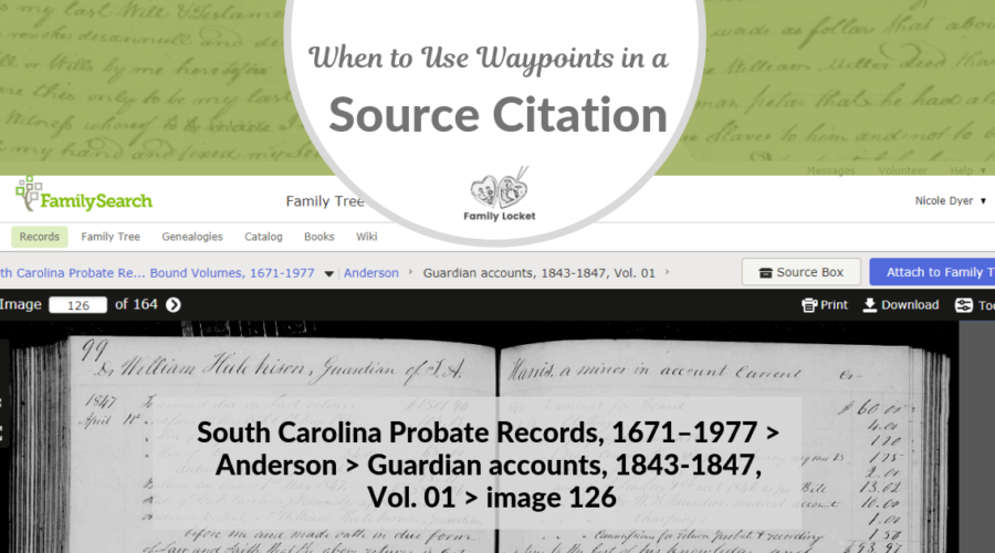 When to Use Waypoints in a Source Citation