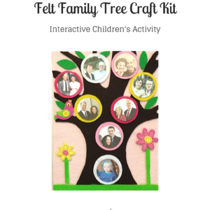 Felt Family Tree Kit #1 – Light Pink