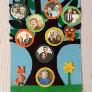 Felt Family Tree Kit – Light Blue