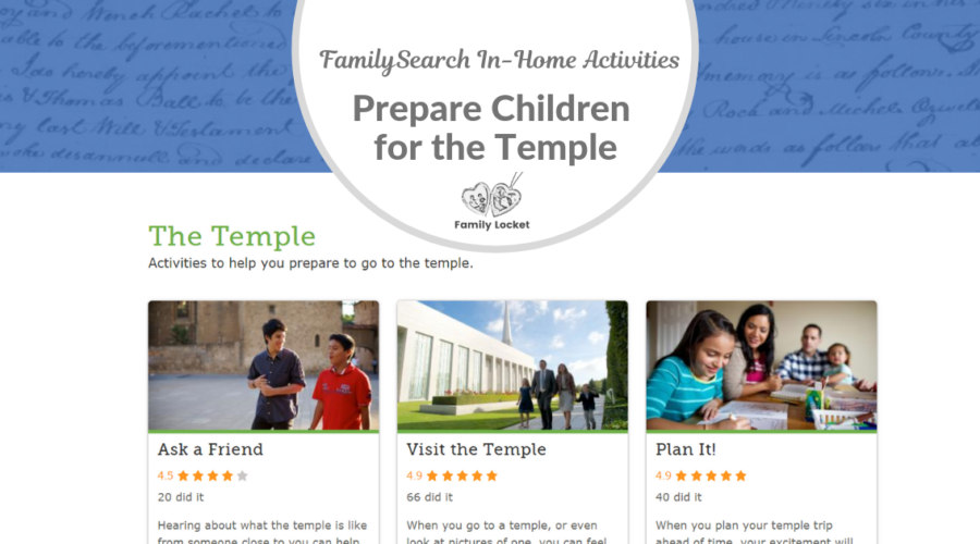 In-Home Activities Prepare Children for the Temple:  An Interview With Mike Sandberg of FamilySearch