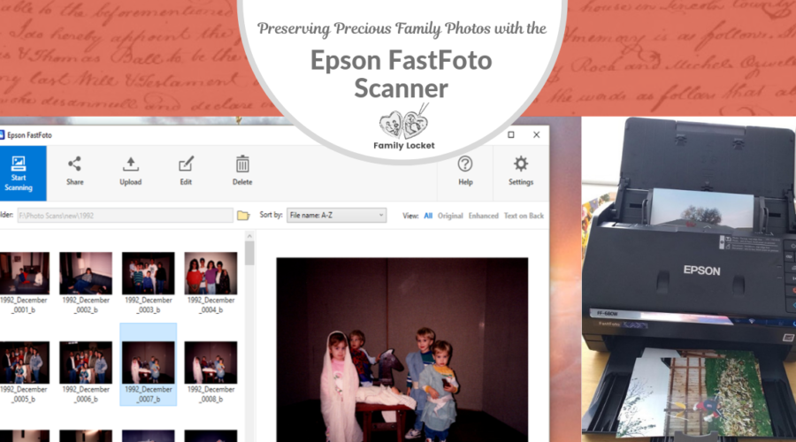 Preserving Precious Family Photos with the Epson FastFoto Scanner
