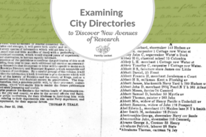 Examining City Directories to Discover New Avenues of Research