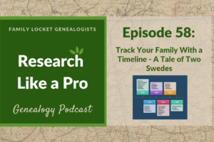 RLP 58 – Track Your Family with a Timeline – A Tale of Two Swedes