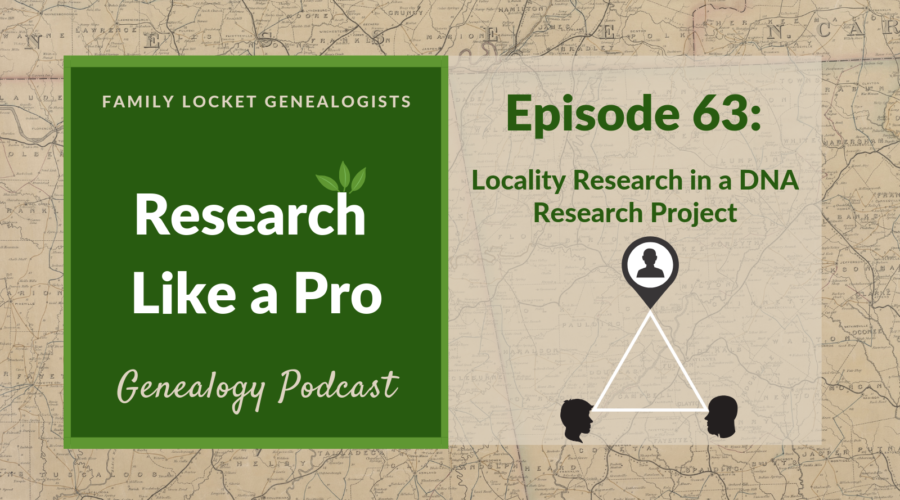 RLP 63: Locality Research in a DNA Research Project