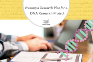 Creating a Research Plan for a DNA Research Project