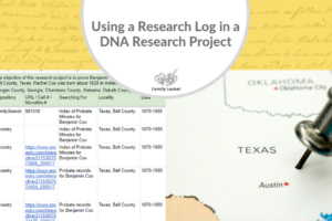 Using a Research Log in a DNA Research Project