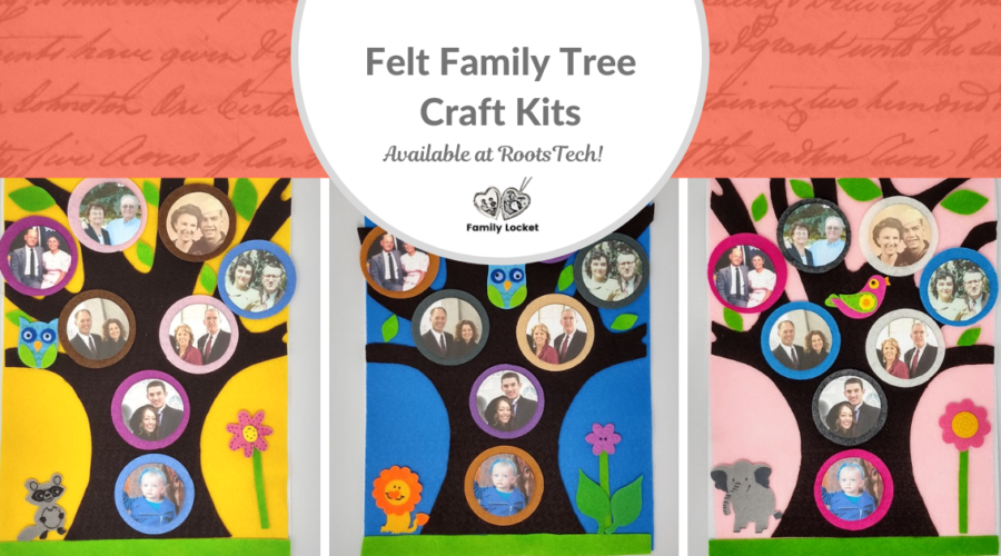 Felt Family Tree Craft Kits – Available at RootsTech