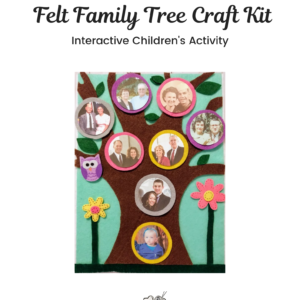 Felt Family Tree Kit #2 – Teal
