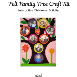 Felt Family Tree Kit #20 – Pink