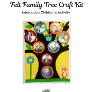 Felt Family Tree Kit #5 – Yellow