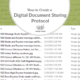 How to Create a Digital Document Storing Protocol