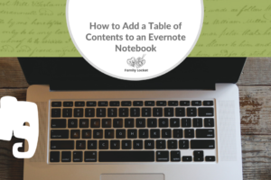 Adding a Table of Contents to an Evernote Notebook