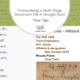 4 Tips for Transcribing a Multi-Page Document File in Google Docs