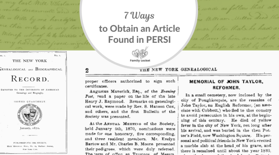 Seven Ways to Obtain an Article Found in PERSI