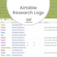 Airtable Research Logs