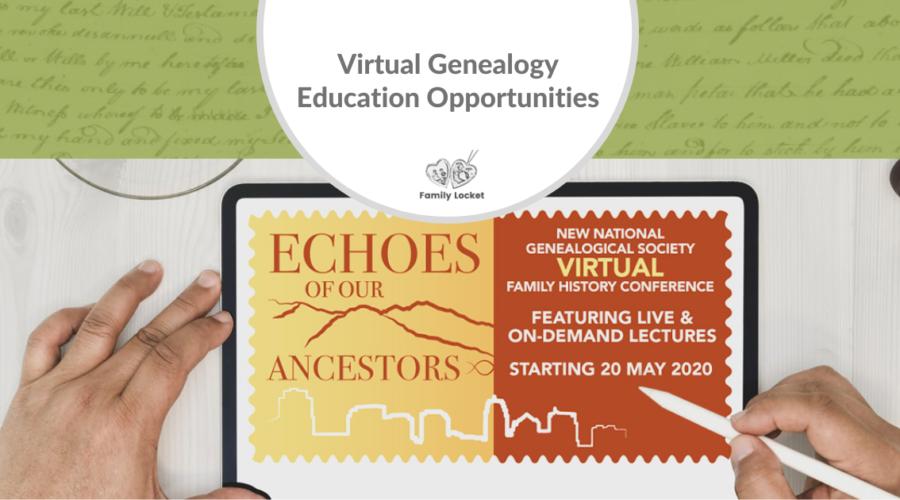 Virtual Genealogy Education Opportunities