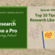 RLP 100: Top Ten Tips to Research Like a Pro
