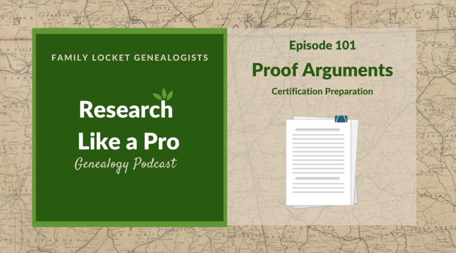 RLP #101: Proof Arguments – Certification Preparation