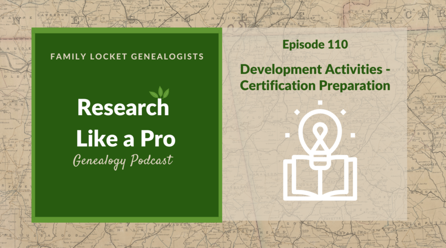 RLP 110: Development Activities – Certification Preparation