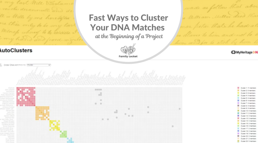 Fast Ways to Cluster Your DNA Matches at the Beginning of a Research Project