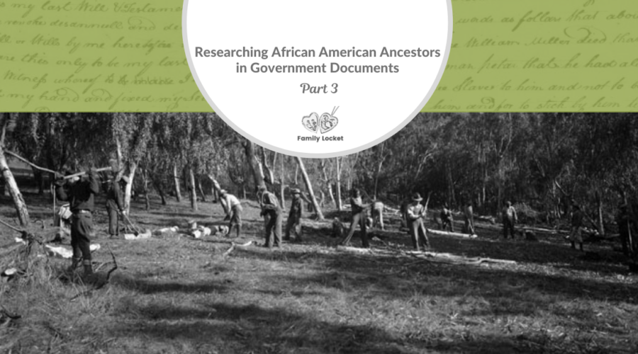 Researching African American Ancestors in Government Documents Part 3 : WPA Projects and Slave Narratives